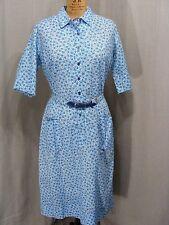 1960S VINTAGE DRESS BLUE FLORAL DEADSTOCK UNWORN TAGS PLUS SIZE VINTAGE FASHION