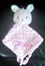 Personalised Baby Cuddle Blanket Comforter Security Blankie Bunny Easter  Gift
