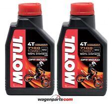 Aceite Motos Motul 4T 7100 10W60 Off Road MA2,  pack 2 litros