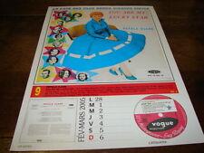 PETULA CLARK & EDDIE COCHRAN - Mini poster couleurs RECTO VERSO CALENDRIER 2005