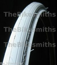 "1 CST 27""x 1 1/4"" ALL WHITE Road Bike Tire Track Fixed Gear Bicycle Tyre 27 Inch"