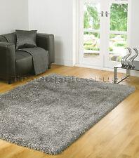 "Modern Quality Soft Thick Shaggy Rug in Grey Mix 60 X 110 Cm (2'x3'7"") Carpet"