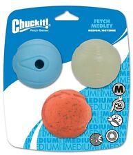 Chuck que fetch Medley bolas 3 Pack Chuckit Lanzador (Pelota De Tenis Talle)