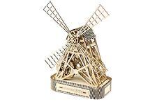 MULINO a vento-città in legno 3D meccanico in legno modello & Puzzle