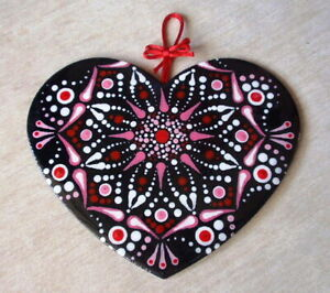 """HAND PAINTED ART, ABSTRACT HOME DECOR, ACRYLIC PAINTING, ORIGINAL - """"HEART"""""""