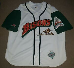 Vtg Buffalo Bisons Jersey Express Baseball XL w/ Governors Cup Champions Patch