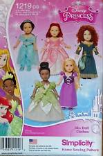 New Pattern 1219 Doll Clothes Disney Princesses II fit 18 inch American Girl