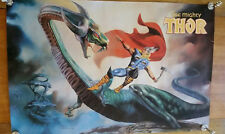 1989 Original 34x22 Marvel Comics Thor poster pinup 1:Avengers/1980s Marvelmania