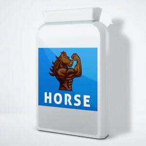 HORSE - MALE ENHANCEMENT PENIS ENLARGEMENT PILLS (360 Pills - 1 Years Supply)