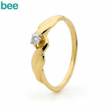 Diamond Solitaire Yellow Gold Fine Rings
