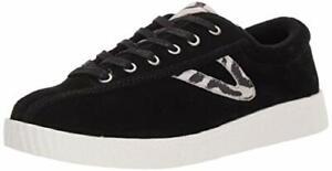TRETORN Women's Nylite29plus Sneaker, Black/White, Size 5.0