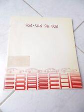 Porsche 924 911 911 928 gama 1982 ventas folleto prospekt catálogo comercial