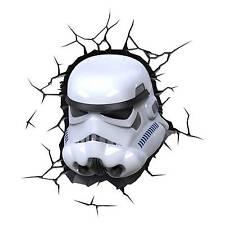 Star Wars Stormtrooper 3d Deco Night Light LED 3dfx Crack Sticker Included 28cm