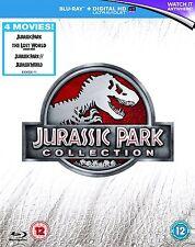 Jurassic Park 1-4 Collection 4 Movie Blu-Ray Box Set NEW includes Jurassic World