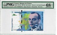 France 50 Francs 1997 Pick# 157Ad PMG Superb UNC 68 EPQ