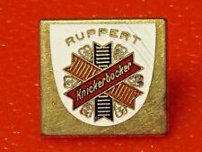 RARE Antique New York's Famous Beer RUPPERT Knickerbocker porcelain enamel pin