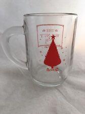 2011 Marshall Field Dept Store Adv The Walnut Room Red Christmas Tree Glass Mug