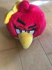 "ANGRY BIRDS - ROVIO- RED GIRL BIRD w/ BOW - 5"" PLUSH w/ SOUND"