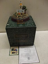 Thomas Kinkade A Light In The Storm Lighted Lighthouse Seaside Memories Loa Box