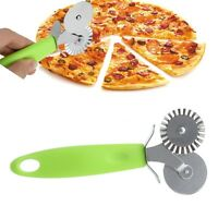 Stainless Steel Round Roller Cutter Pizza Hob Wheel Knife Pastry Dough Tools New