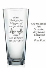 Personalised engraved glass vase birthday gifts 40th, 50th, 60th, 65th 70th 85th