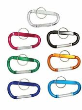 "New 12pc 2"" (45mm) Aluminum Carabiner D-Ring Key Chain Clip Hook"