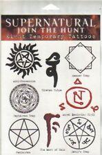 Supernatural TV Series Set of 8 Temporary Runes Tattoos NEW SEALED