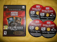 PC GAME-AGATHA CHRISTIE-DOUBLE MURDER MYSTERY PACK-COFANETTO 4 CD-INGLESE-ING