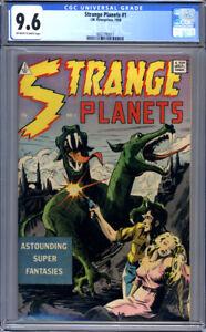 Strange Planets #1  (1958)  Classic Sci-Fi 10-cent Cover  CGC 9.6