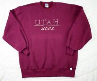 Vintage 90s sweatshirt by Russell Athletic Made in USA L UTAH utes Burgundy