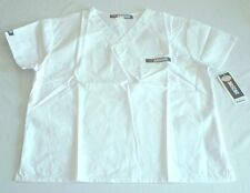 NEW Scrubs ~ NASCAR Unisex Scrub Top ~ SMALL ~ White