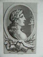 Engraving Portrait Anonymous (Virgil) Per Dupreel