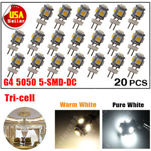 20X Warm White G4 LED Festoon 5050SMD Landscaping Map Interior Bulb lights 4300K