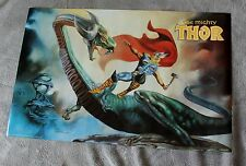 Mighty Thor vs Dragon 1989 Dorian Cleavenger Painted Marvel Press Poster FNVF