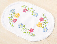 1x Embroidery Kit Thread Doily Colourful Flowers Sewing Craft Tool Hobby 7999