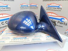 Bmw E46 M3 Driver side  wing mirror  Power Fold  in  Mystic Blue 21/8