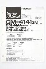 Pioneer GM 4141ZM/4041ZM/ZM 91 Power Amp Service Manual/Wiring Diagram/Diagram