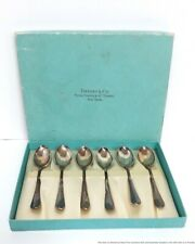 Signed Tiffany and Co Sterling Silver Demitasse Coffee Espresso Spoon Set