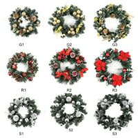 Christmas Wreath W/ LED Light Door Hanging Home Decoration Holiday Garland Hot!