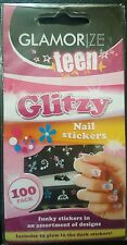 100pc Glitzy Nail Stickers inc 25 Glow in the Dark Teen Decoration Party