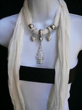 Sciarpe, foulard e scialli da donna bianchi in poliestere