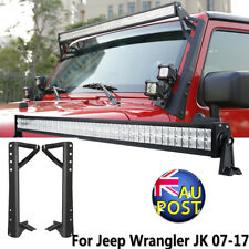"""52"""" 700W PHILIPS LED Work Light Bar+Mount Bracket For 2007-2017 Jeep Wrangler JK"""