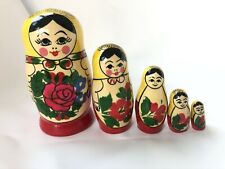 Golden Cockerel Semenov Babushka Russian Nesting Dolls 5 Pcs 4.5� 102051