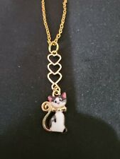 Gold Tone Black and White Kitty Cat Jewelry various sizes and styles