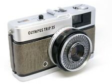 Olympus Trip 35 (1978) REFURB/SERVICED Antique Grey Leather - EXC CONDTION