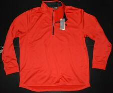 """UNDER ARMOUR """"COLDGEAR"""" LOOSE FIT MENS RED LS 1/2 ZIP SWEATSHIRT SIZE: 3XL *NWT*"""