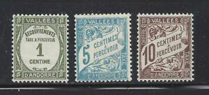 ANDORRA (FRENCH ADM) - J16-J18 - MH - 1935-1941 - RECOUVREMENTS & SCROLL