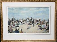 OWEN DALZIEL BRITISH VICTORIAN BEACH MARINE PORTRAIT PAINTING 1883 ART 1861-1942