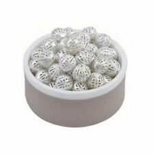 100pcs European Fit For Bracelet 10mm Chain Spacer Silver Plated Beads Hollow