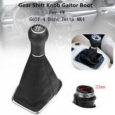5 Speed Car Gear Shift Knob Gaitor Boot PU Leather For Golf 4 Bora Jetta MK4 VW